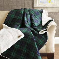Blanket Blackwatch Plaid Down Alternative Stuffed