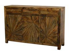 Sunburst Cabinet Wooden Modern Sideboard
