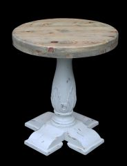 Side Table Coastal Rustic Pedestal