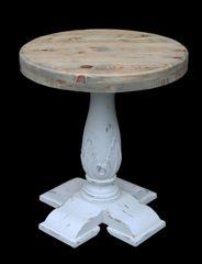 Side Table Coastal Rustic Pedestal