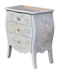 Floral Cabinet French Blue Chest of Drawers