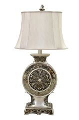 Table Lamp Vintage Mirror Metal Rosette