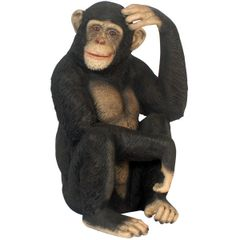 Chimpanzee Statue Monkey Chimp Decor