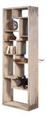 Modern Etagere Bookshelf Antique Wood
