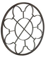 Iron Mirror Window Pane Detail in Grey