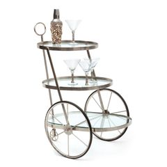 Bicycle Bar Cart South Beach Style