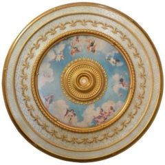 Cherub Ceiling Medallion Round Colorful