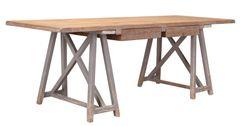 Sawbuck Desk Distressed Pine Saw Horse Rustic