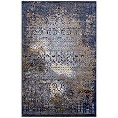 Distressed Afghan-Style Area Rug