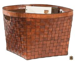 Storage Basket Woven Leather Extra Large