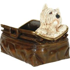 Scottie Dog Statue in Old Fashioned Bag