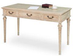 Oak Desk Whitewash Turned Legs