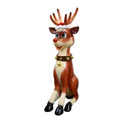 Red Nosed Reindeer Statue 7 Feet Tall