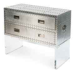 Campaign Style Cabinet Aluminium Acrylic Base