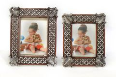 Photo Frame Set of 2 Flower Fleurette
