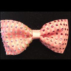 Swarvoski Crystal Pink & White Bow Tie