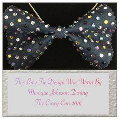 Denim & Diamonds Bow Tie