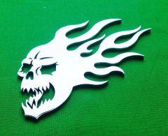 """071d. 4-3/4"""" Burning Skull Emblem"""