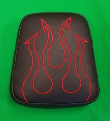 050d. Backrest Pad - Embroidered Tribal Flame