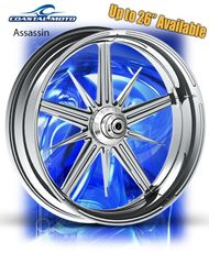 161a. Coastal Moto Assassin Front Wheel Package for Harley Davidson
