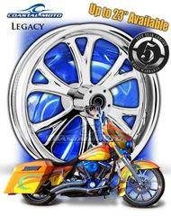 161r. Coastal Moto Legacy Front & Rear Wheel Package for Harley Davidson