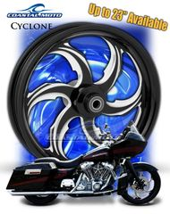 161t. Coastal Moto Cyclone Front & Rear Wheel Package for Harley Davidson