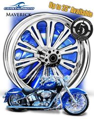 161p. Coastal Moto Maverick Front & Rear Wheel Package for Harley Davidson