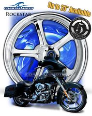 161z. Coastal Moto Rockstar Front & Rear Wheel Package for Harley Davidson