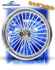 161d. Coastal Moto Fusion Front & Rear Wheel Package for Harley Davidson