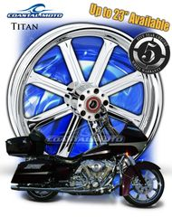 161x. Coastal Moto Titan Front & Rear Wheel Package for Harley Davidson