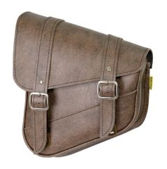 063B3. Willie & Max Swing Arm Bag - vintage brown (left side)