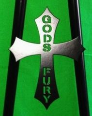 070b1. God's Fury Cross - 3-1/2""