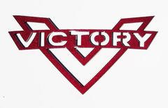 """072a. 9-1/2"""" Victory Emblem Wall Hanger"""