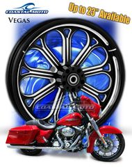 161m. Coastal Moto Vegas Front Wheel Package for Harley Davidson