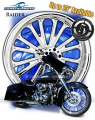 161l. Coastal Moto Raider Front & Rear Wheel Package for Harley Davidson