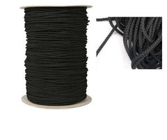 H2o Black 8 plait Deck Line 6mm (2 Metre) Polyproplylene STRONG