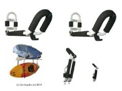 Folding Padded Kayak Wall Rack Holds 2 x Kayaks Inc Fixings