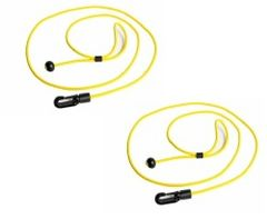 Yellow H2o Heavy Duty Monoflex ™ Paddle/Rod Leash Kit Twin Pack
