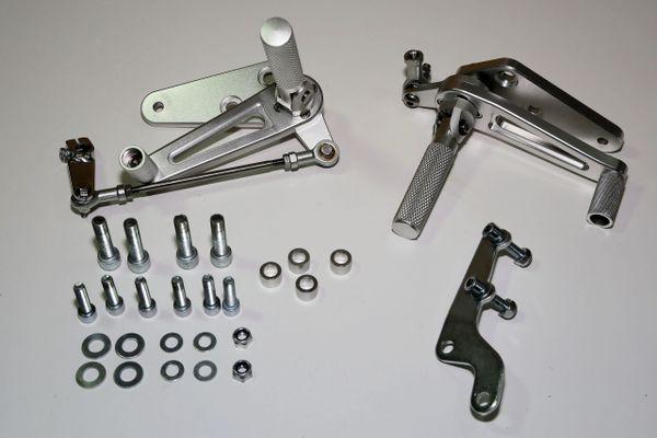 Tec Triumph Bonneville Clear Alloy Rearset Kit Tec Bike Parts