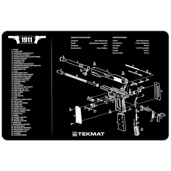 1911 Colt Government Model 45acp Pistol Tekmat Gun Mats