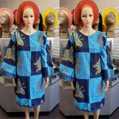 SHORT ANKARA DRESS-178