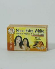 Nano Extra White Natural Papaya & Carrot Soap