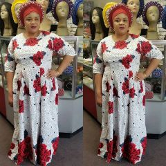 Embellished Ankara Dress-129