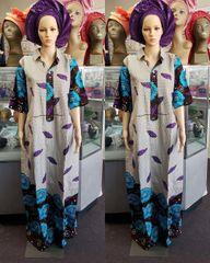 EMBELLISHED ANKARA DRESS-208