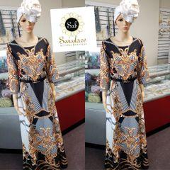 BRAND DRESS WITH BELT-03