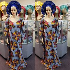 EMBELLISHED ANKARA DRESS-189