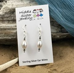 Light Gray Pearl Earrings - EPC5