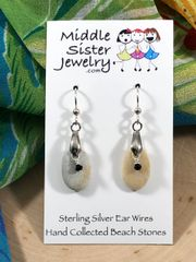 Greek Beach Stone Earrings - CEST12