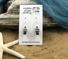 Stacked Stone Earrings - CEST5
