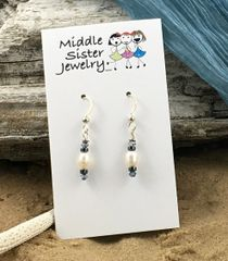 White Pearl Earrings - EPC6